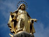 foto of glorify  - the virgin mary with sky as background - JPG