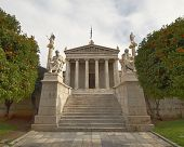 picture of socrates  - The National academy with Apollo Athena Plato and Socrates statues - JPG