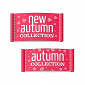 New autumn collection clothing labels. Vector.