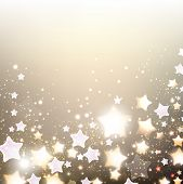 picture of shimmer  - Elegant Christmas background with stars - JPG