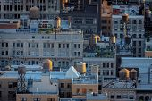Aerial View Of New York Rooftops And Water Towers