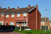 foto of social housing  - Redbrick english houses - JPG