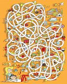 pic of maze  - Travel Maze Game - JPG