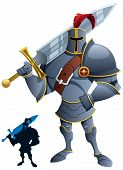 stock photo of knights  - Cartoon knight - JPG