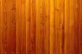 pic of wainscoting  - Old wall covered with brown wooden wainscot - JPG