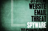 image of spyware  - Spyware Computer Security Threat and Protection - JPG