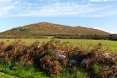 picture of st ives  - Fields and hills Cornwall countryside Zennor near St Ives England UK - JPG
