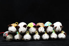 picture of fancy mouse  - Toy Mouse Made of Cotton Cloth on a Black Background - JPG