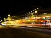 picture of low-light  - Traffic lights at night - JPG