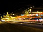 stock photo of low-light  - Traffic lights at night - JPG