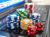 stock photo of dice  - Virtual casino - JPG
