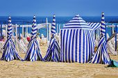 stock photo of basque country  - San Sebastian beach in Donostia - JPG