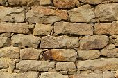 picture of tile cladding  - Stone wall background horizontal stone wall texture - JPG