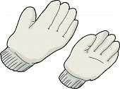 stock photo of generic  - Generic work gloves over isolated white background - JPG