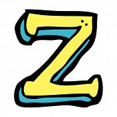 cartoon letter z