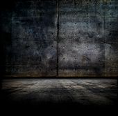 stock photo of wall-stone  - Black room - JPG