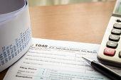 stock photo of income tax  - Form 1040 U - JPG