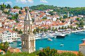 picture of amaze  - Amazing town of Hvar harbor aerial view Dalmatia croatia - JPG