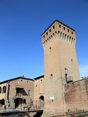 stock photo of castello brown  - old Formigine fortress of Modena in Italy - JPG