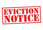 stock photo of eviction  - EVICTION NOTICE red Rubber Stamp over a white background - JPG