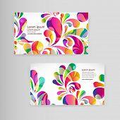 foto of teardrop  - Sample business card with bright teardrop - JPG