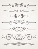 image of decorative  - Calligraphic decorative elements - JPG