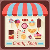 picture of candy  - Candy shop background with candy - JPG