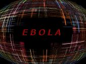 picture of epidemic  - Multicolored abstract globe shape on black background with text - JPG