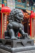 pic of sinful  - Lion statue in Wong Tai Sin Temple in Hong Kong - JPG