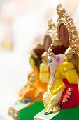 foto of lakshmi  - Close up of colorful and decorative Lord Ganesha and Godess Lakshmi - JPG