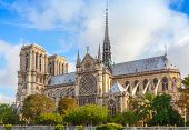 picture of notre dame  - Notre Dame de Paris cathedral France - JPG