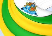 stock photo of bandeiras  - 3D Flag of Aracaju - JPG