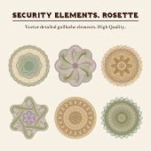 picture of rosettes  - Security elements - JPG