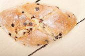 picture of home-made bread  - fresh home made sweet bread cake dessert just baked - JPG