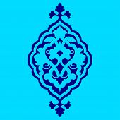 stock photo of ottoman  - Inspired by the Ottoman decorative arts pattern designs - JPG