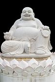 picture of budha  - Smiling Big Buddha Statue isolated With clipping path - JPG