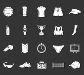 picture of volleyball  - Volleyball icon set  - JPG