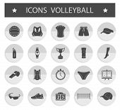 pic of volleyball  - Volleyball icon set  - JPG