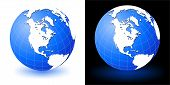picture of earth structure  - Illustration of earth globe on white and black backgrounds with glow shadow - JPG