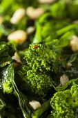 picture of sauteed  - Homemade Sauteed Green Broccoli Rabe with Garlic and Nuts - JPG