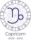 stock photo of capricorn  - Zodiac sign  - JPG
