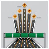 pic of traffic sign  - Road And Street Traffic Sign Business Travel Infographic Design Template - JPG