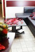 picture of beauty salon interior  - brand new interior of european beauty salon - JPG