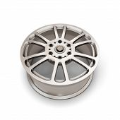 picture of alloys  - Alloy Wheel Rim on a white background - JPG