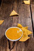 image of nachos  - Nachos with Cheese Dip  - JPG