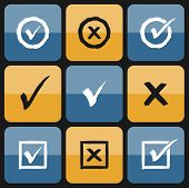 pic of confirmation  - Vector check box Set of hand drawn Icons - JPG
