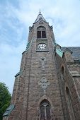 foto of gothic  - Falkenberg church built in neo - JPG