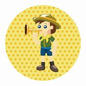 stock photo of boy scout  - Scout Theme Elements - JPG
