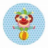 picture of clown face  - Clowns Theme Elements - JPG