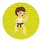 stock photo of taekwondo  - Taekwondo Theme Elements - JPG